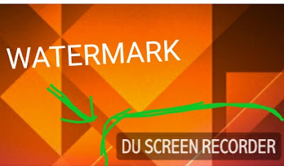 watermark atau logo aplikasi du screen recorder