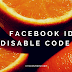 facebook id disable code