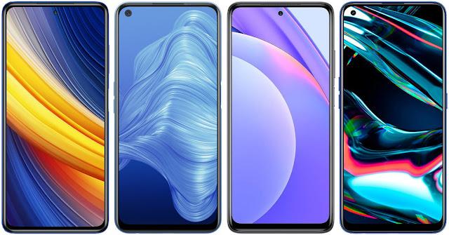 Xiaomi POCO X3 Pro vs Realme 7 5G vs Xiaomi Mi 10T Lite 5G vs Realme 7 Pro