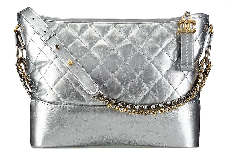 Chanel Gabrielle Hobo Bag in Silver