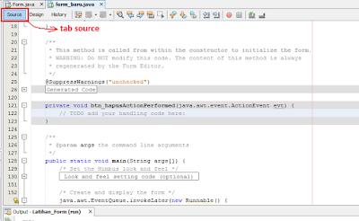 20 - Tutorial 4 Pemrograman Java Netbeans  – Disain Form Dengan Tombol Hapus Dan Tombol Keluar