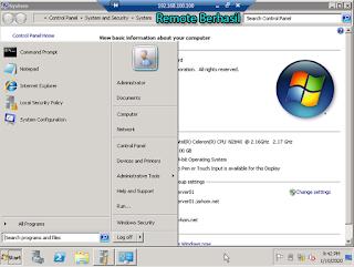 Remote Desktop Berhasil