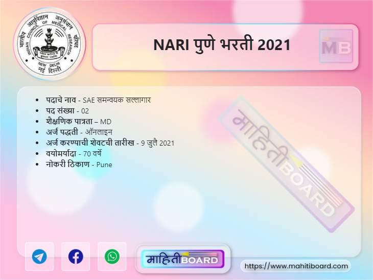 NARI Pune Recruitment 2021