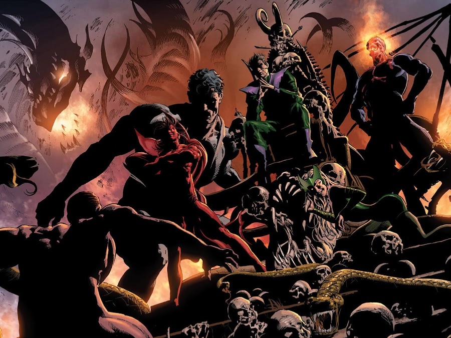 dark avengers molecule man owen reece beyonder enchantress mephisto zarathos marvel comics dark dimension norman osborn brian michael bendis mike deodato jr.