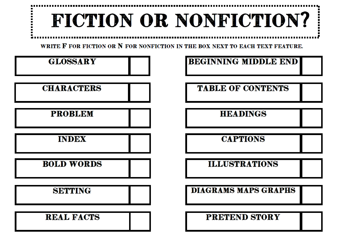Jennifer S Teaching Tools Nonfiction And Fiction Text