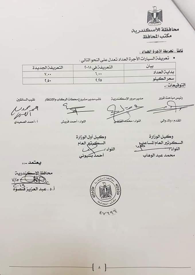 ننشر التعريفه الجديده للمواصلات داخل وبين المدن المصرية بعد زياده اسعار الوقود بجميع المحافظات FB_IMG_1562335853236