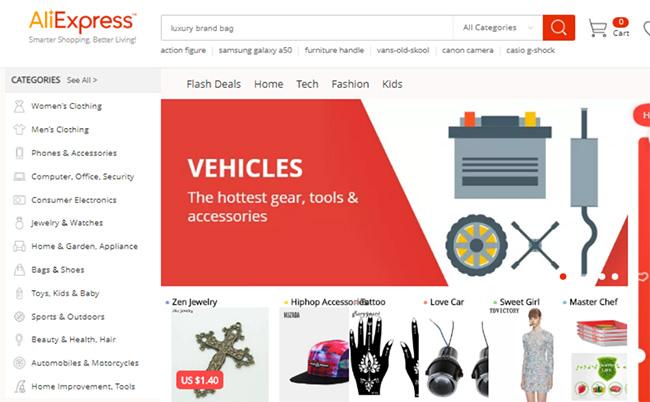 أشهر مواقع التجارة الالكترونية العالمية، علي اكسبريس، AliExpress