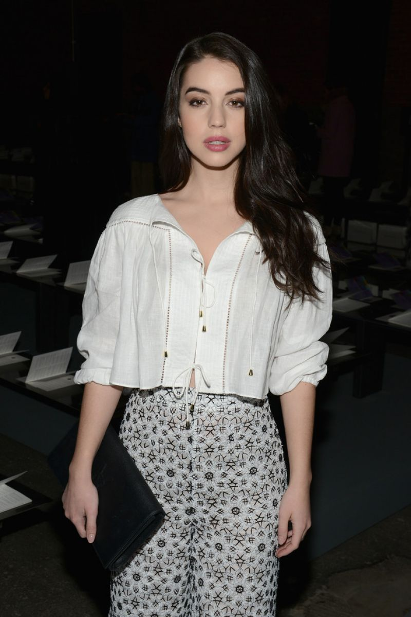 Adelaide Kane arrives at Zimmermann Fashion Show in NYC