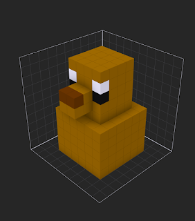 Painting voxels in MagicaVoxel using the Paint tool