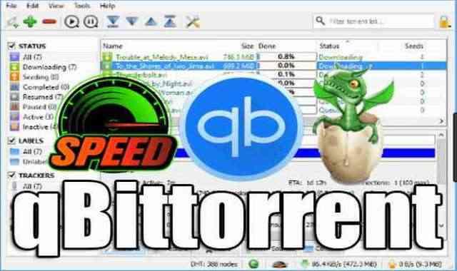 برنامج تحميل ملفات التورنت qBittorrent 4.3.4.1 المنافس الاول لبرنامج uTorrent