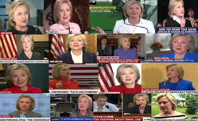 A Screen Capture From The Video:  Hillary Clinton Repeated Lies On TV About Email