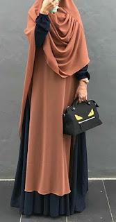 Inspirasi baju lebaran muslimah Gamis Warna pastel