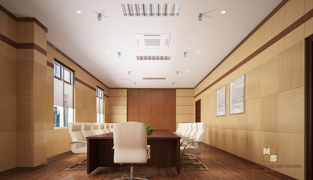 Thiết kế bàn họp nhập khẩu chất liệu gỗ veneer cao cấp vừa sang trọng vừa mộc mạc