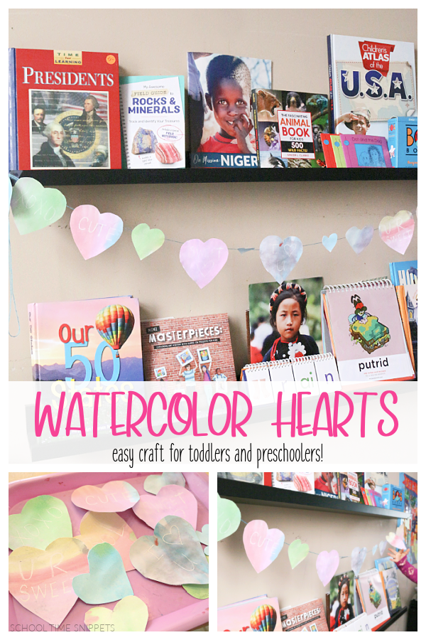 easy heart craft for toddlers and preschoolers