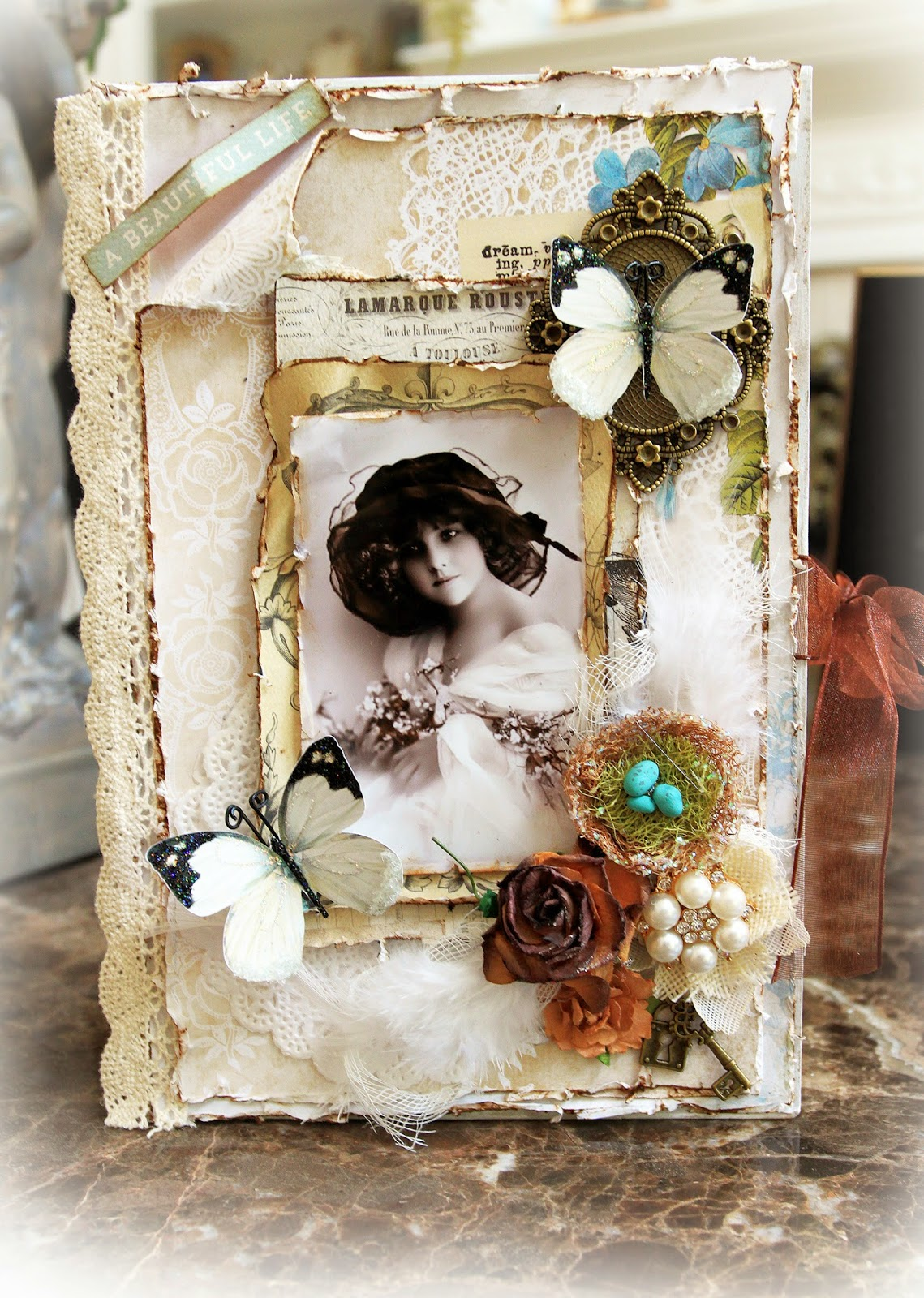 My Glitter Coated Life A Beautiful Life Altered Book Box