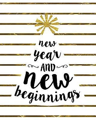 Happy New Year 2018 new beginnings