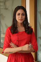 Actress Lavanya Tripathi Latest Pos in Red Dress at Radha Movie Success Meet .COM 0199.JPG