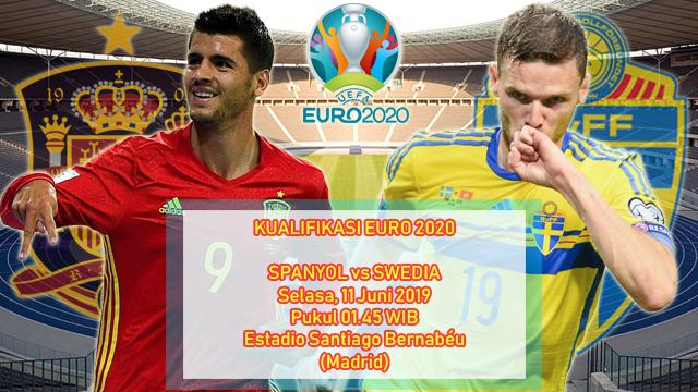 Prediksi Kualifikasi EURO 2020 Spanyol vs Swedia (11 Juni 2019)
