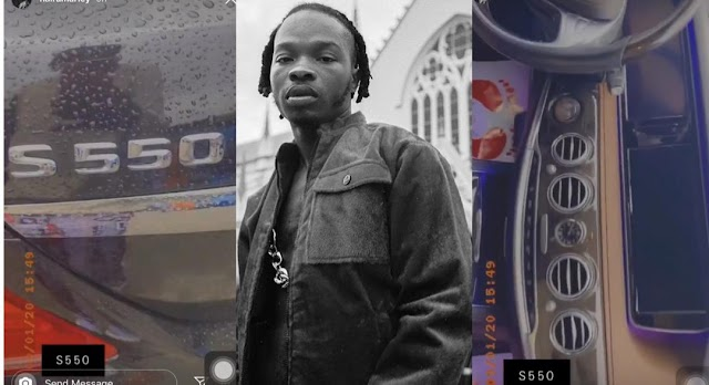 Solid, Strong And Splendid – Naira Marley Shows Off His New Benz S550