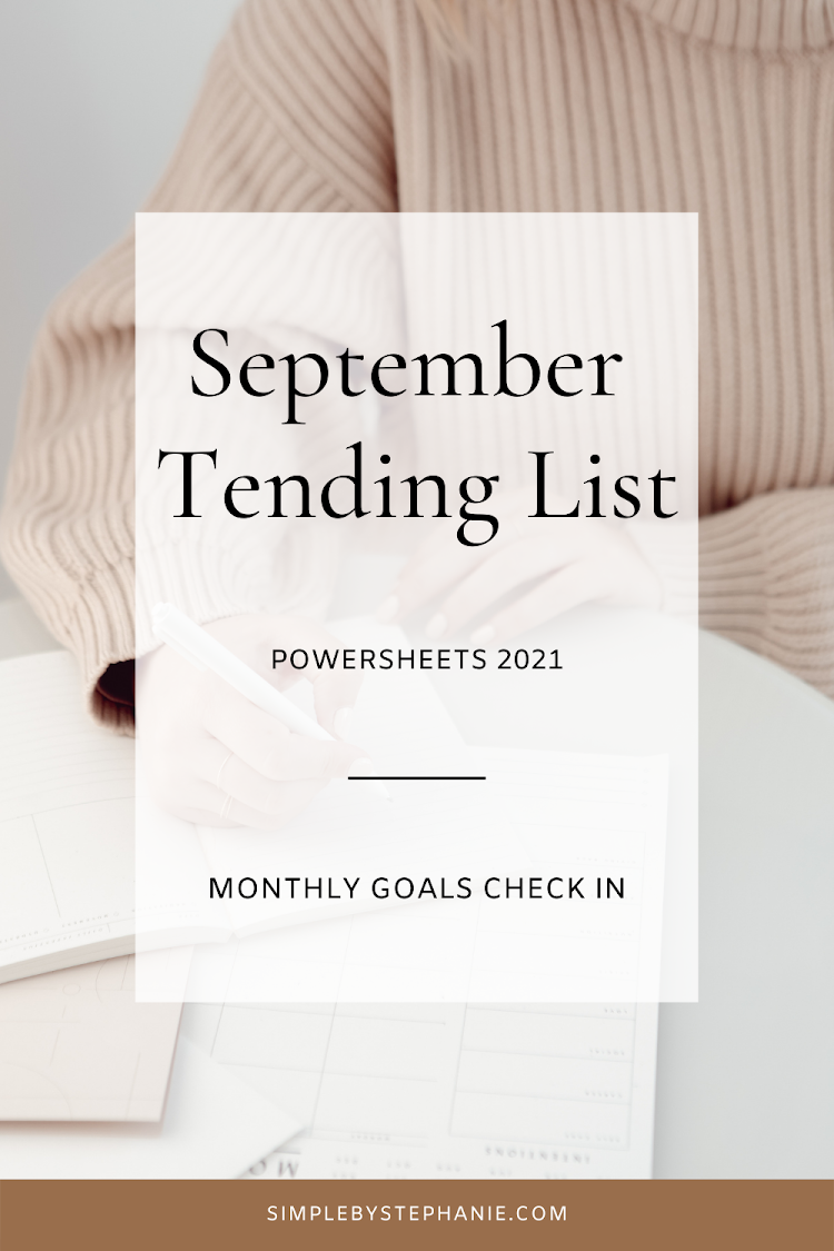 September PowerSheets (Goal Check In)