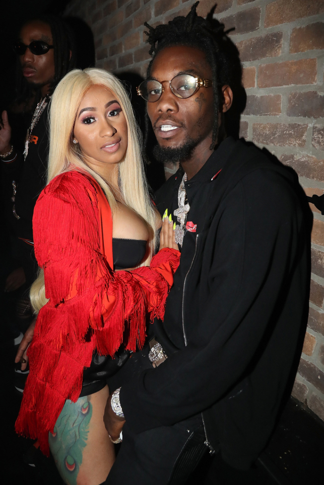 Cardi B with her then-boyfriend Offset