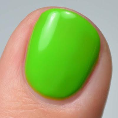 matte neon lime nail polish swatch