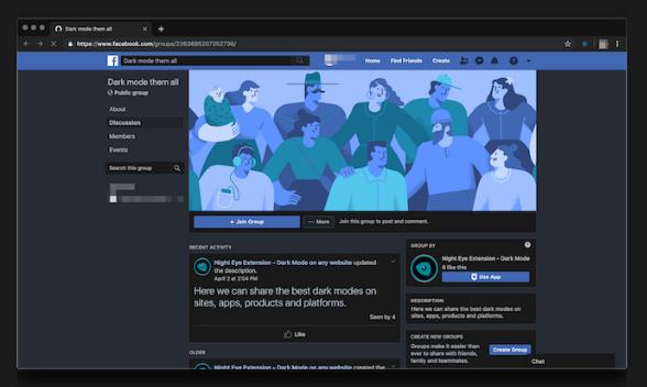 شركة فيسبوك تعمل على توفير خاصية الوضع المظلم في تطبيقها.. وإطلاقها قريب جدا