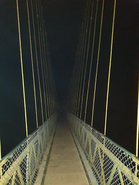 Hanging Bridge on River Tunga