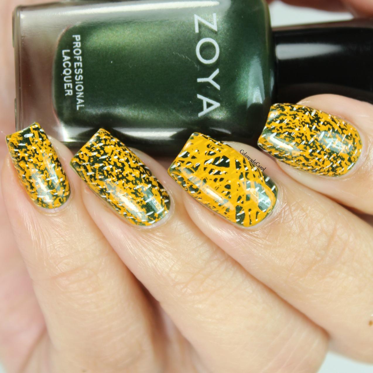 Colores de Carol: Texture-licious-03 - Uber Mini Nail Stamp Plate