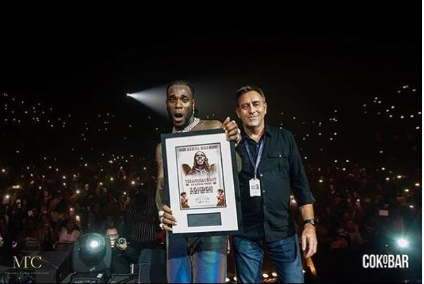 Burna Boy Becomes The First Afrobeat Artist To Sell Out The SSE Arena