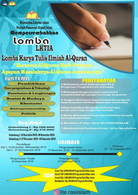 Lomba Karya Tulis Ilmiah Al-Qur'an (LKTIA) Nasional 2019