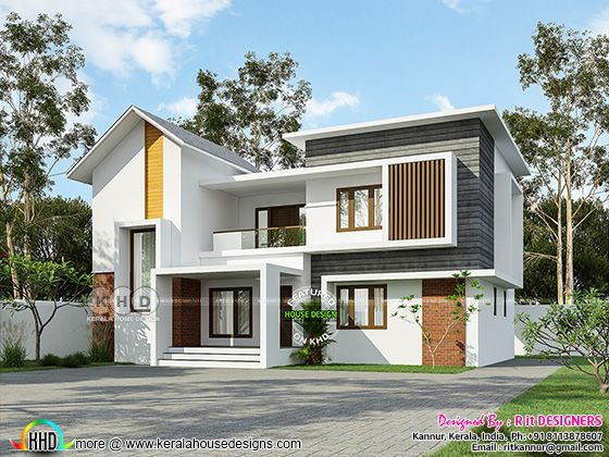 4 BHK mixed roof neat looking home