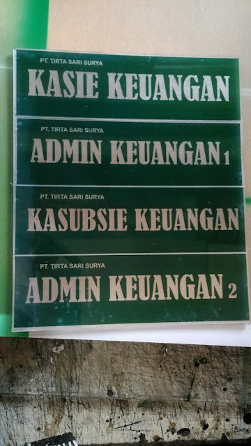 Plang Nama Jabatan