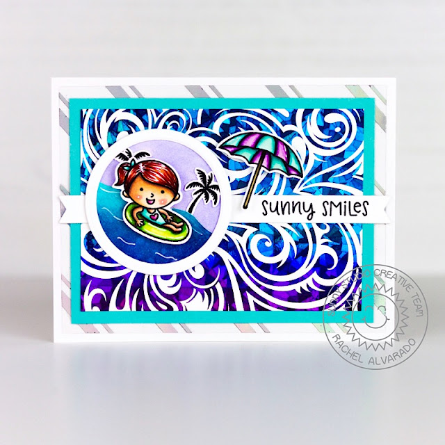Sunny Studio Stamps: Beach Babies Wavy Border Dies Sunny Smiles Card by Rachel  Alvarado