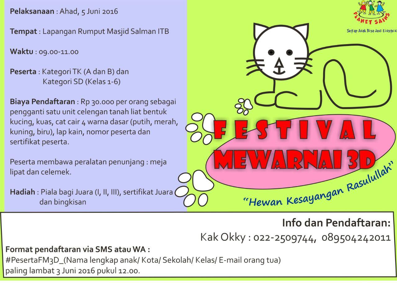 Festival Menggambar Kucing 3 dimensi di ITB Bandung