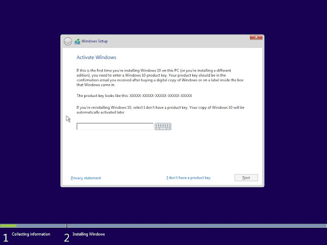Cara menginstal windows 10 pada laptop / komputer