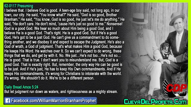 The Secret of God's Justice - William Branham