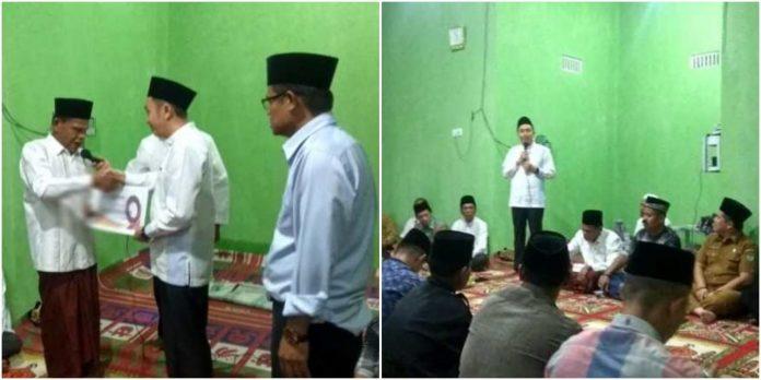 Ketua DPRD Fikar Azami Serahkan Bantuan di Musholla Jabar Nur