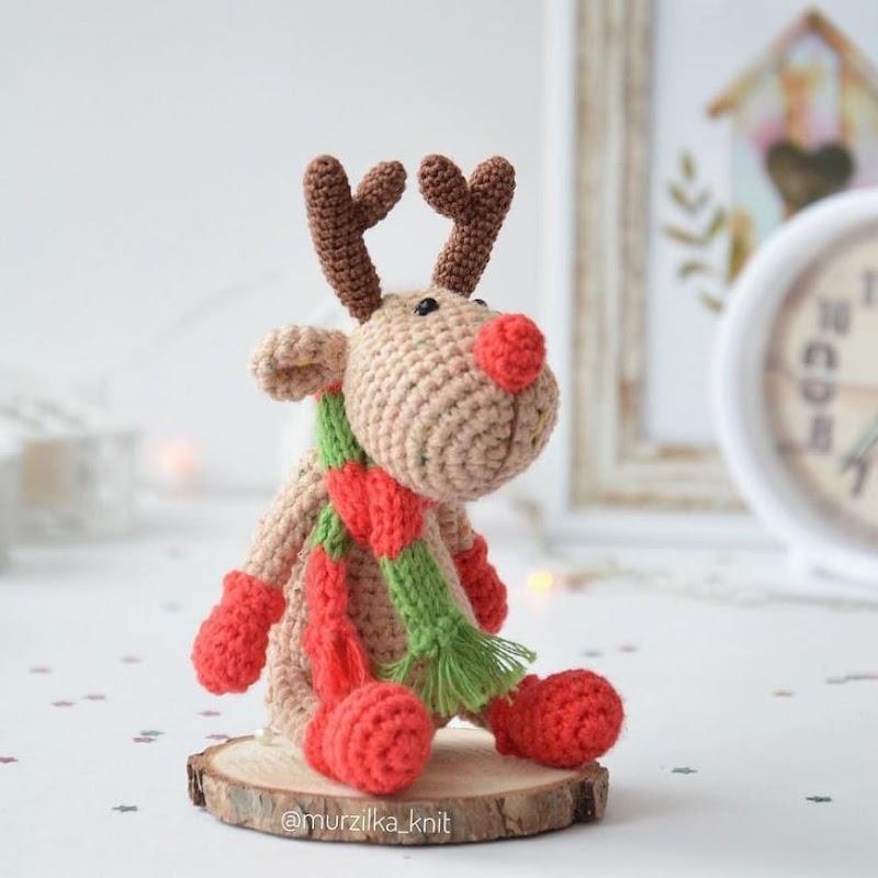 Рождественский олень: схема крючком