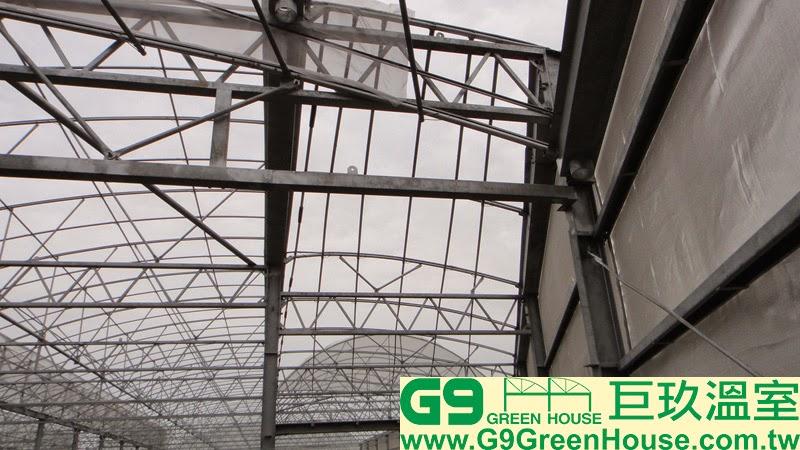 T型崎零地骨架採用斜屋頂與圓拱型及鋸齒型骨架完成完接外觀