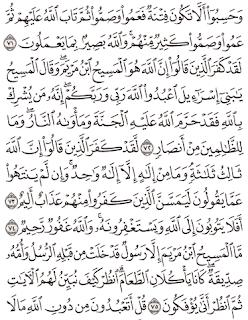Tafsir Surat Al-Maidah Ayat 71, 72, 73, 74, 75