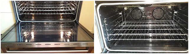 the inside of the oven