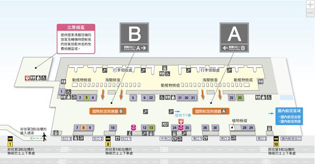成田機場二航平面圖