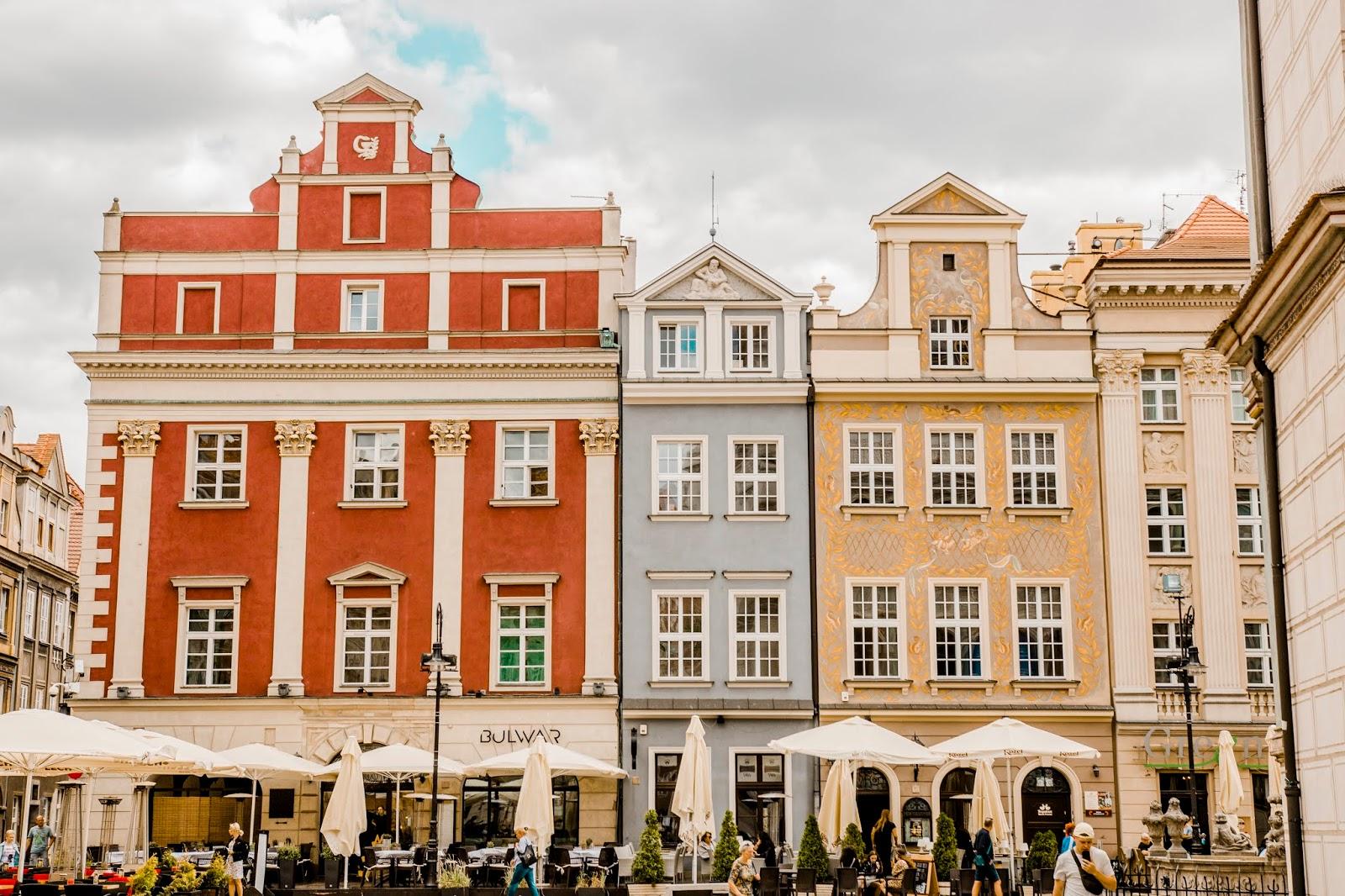 Kolorowe kamieniczki w Poznaniu, atrakcje Poznania