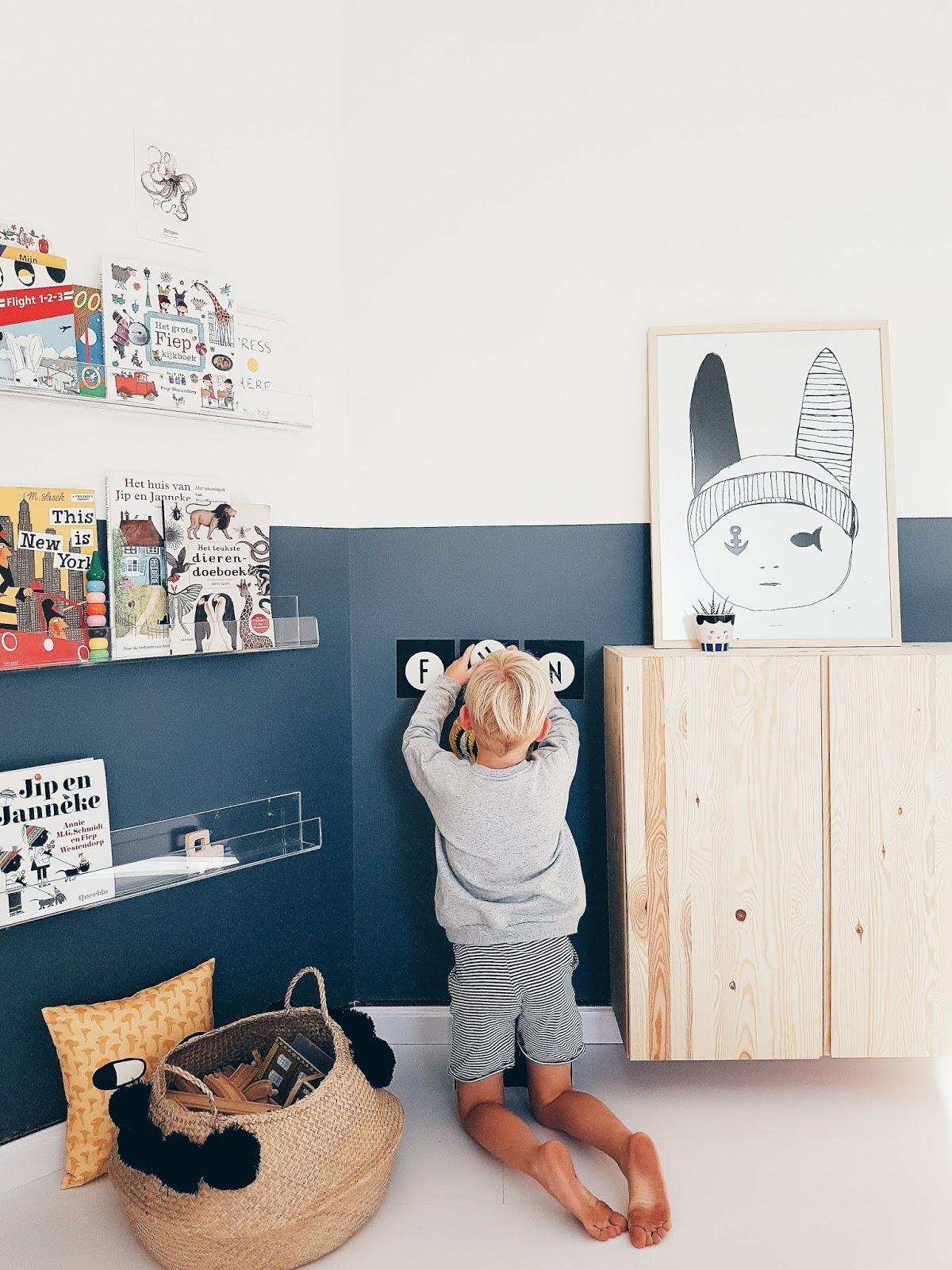 ideas para pintar la mitad de la pared del cuarto de los niños