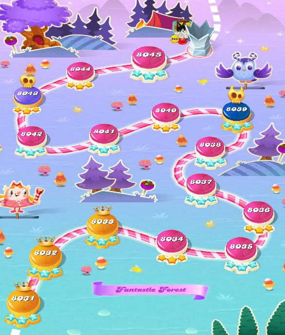 Candy Crush Saga level 8031-8045