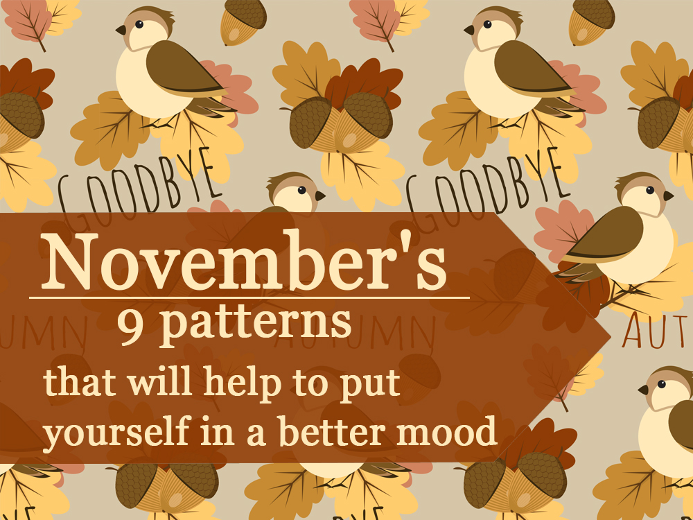 """November's top 9 patterns from """"Daily Crazy Pattern"""" project"""