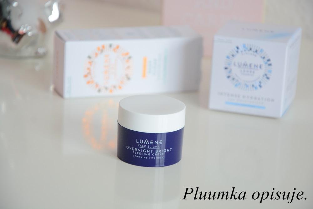 Lumene Valo Overnight Bright Vitamin C Sleeping Cream - krem na noc z witaminą C do każdego rodzaju skóry.