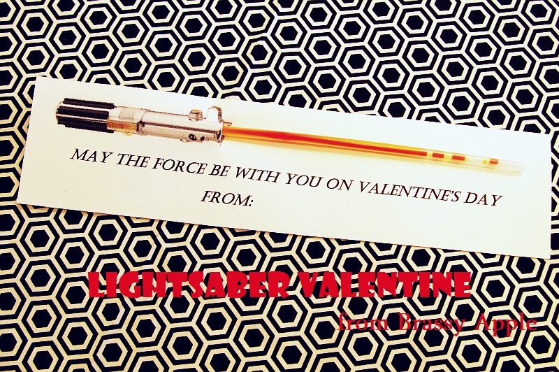 This is a picture of Inventive Lightsaber Valentine Printable