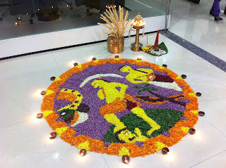 Onam flower design (Pookkalam in Malayalam)